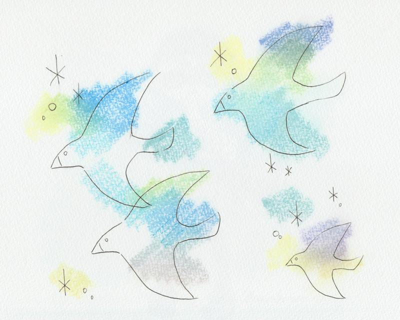鳥の絵 その後